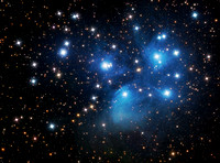 The Pleiades and Merope Nebula