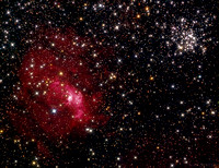 The Bubble Nebula And Messier 52 Area